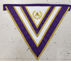 Cryptic Rite Royal & Select  Grand  Council Apron  No Fringe