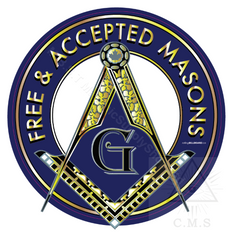Freemasonry  Car Decal  Square and Compass   Free & Accepted Masons