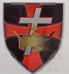 Knight Templar  Car Decal  Crown & Cross on Shield