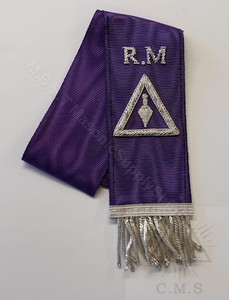 Cryptic Rite  Hand Embroidered Bible Marker  Royal Master Degree