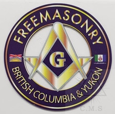 Freemasonry  Car Decal  Square and Compass  British Columbia