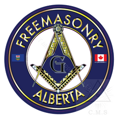 Freemasonry  Car Decal  Square and Compass  Alberta