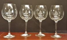 Masonic Wine Glasses   set of 4