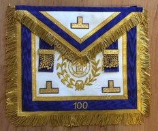 Centennial Apron Royal Blue with Lodge Badge