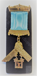 Past Master Breast Jewel  2 Bar Traditional  -1