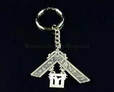 Past Master's Key Chain in matte silver finish