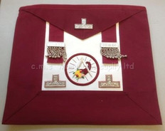 Grand  Stewards   Apron  Crimson