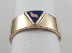 Scottish Rite 14th Degree 10K  Band Ring