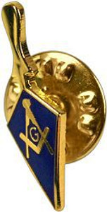 Lapel pin Trowel with Square & Compass