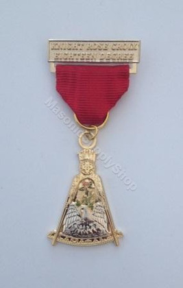 Knight  Rose Croix Breast Jewel
