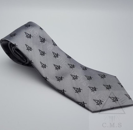 Steel Grey Masonic Tie