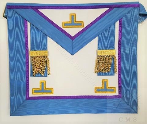 European French Rite  Past Master Masons Apron  Blue