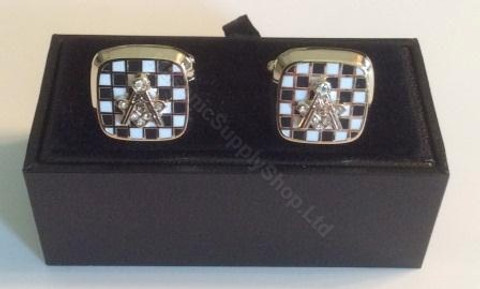 White Mosaic Pavement Cufflinks