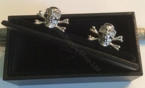 Silver Skull Cufflinks