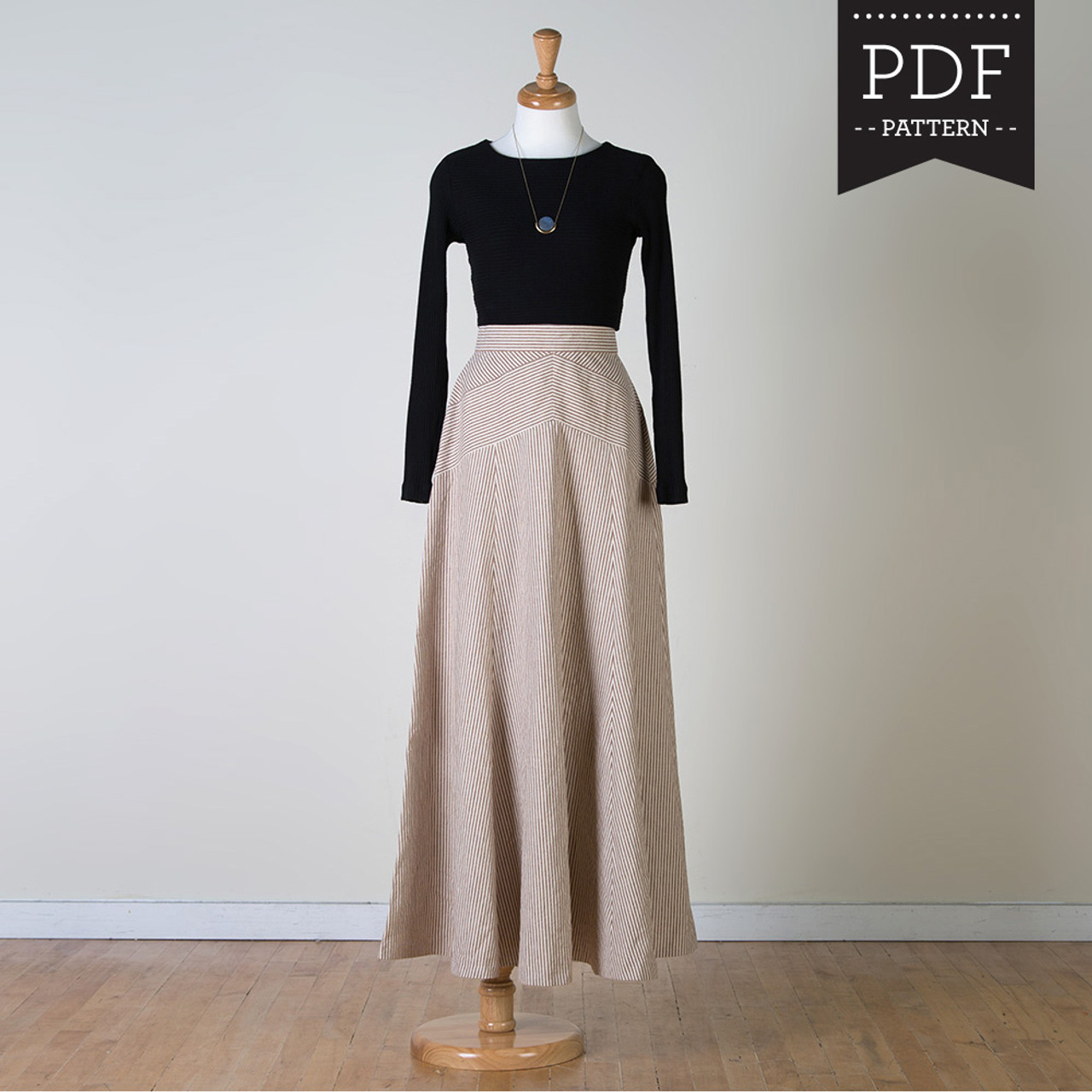 Gabriola skirt sewing pattern by Sewaholic Patterns, gorgeous maxi ...