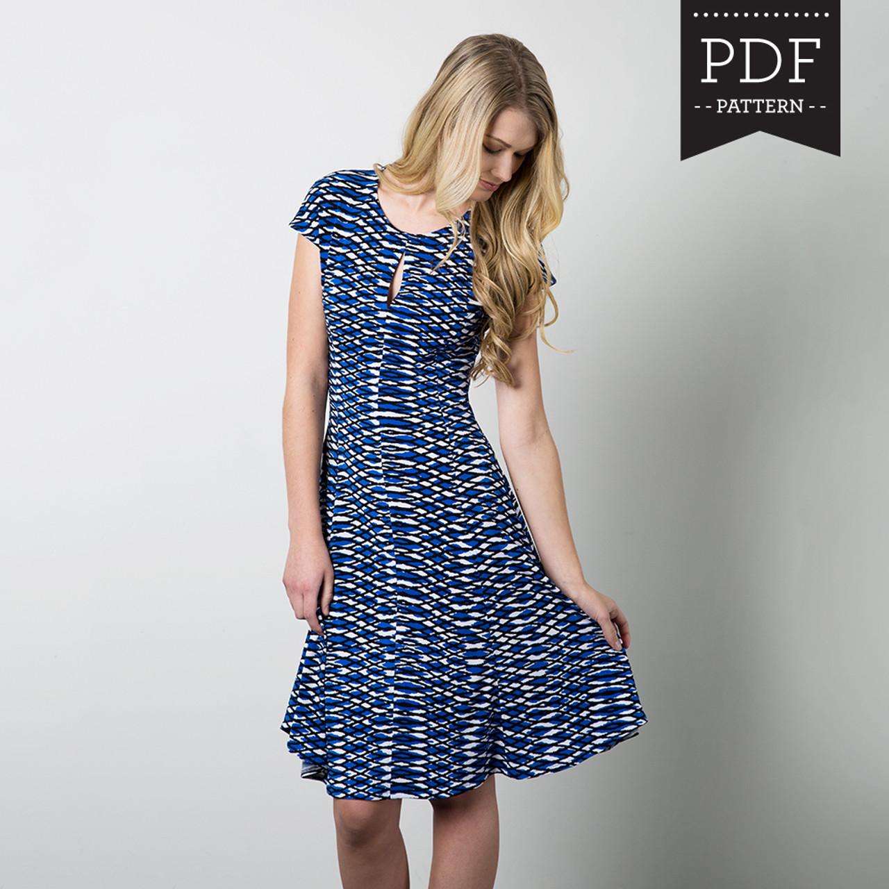 Davie Dress sewing pattern by Sewaholic Patterns with keyhole ...