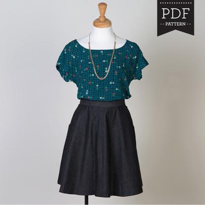 Belcarra Blouse Sewing Pattern By Sewaholic Patterns