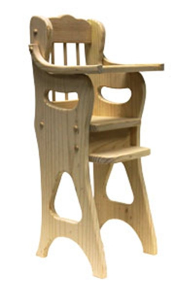 Doll High Chair Ready to Assemble Kit