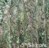 Natural Abalone Sheet 5 3/8 Inch by 9.5 Inch Green Abalone Heart