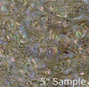 Natural Abalone Sheet 5 3/8 Inch by 9.5 Inch Red Abalone Heart