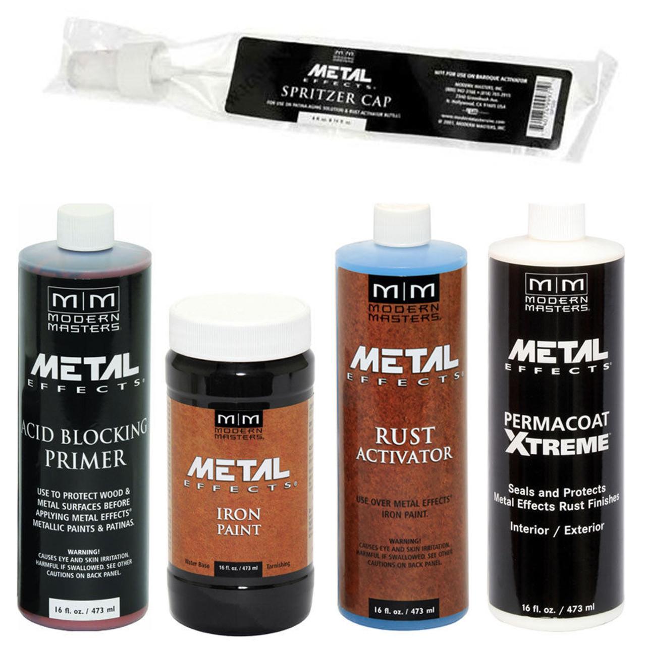 Modern Masters ME208 Reactive Metallic Iron Paint Kit