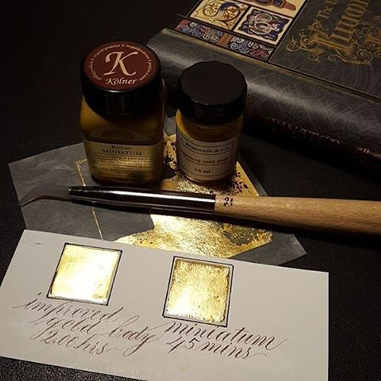 Kolner Miniatum Gold Size Clear for Mirror Gloss Gilding on Paper 50ml