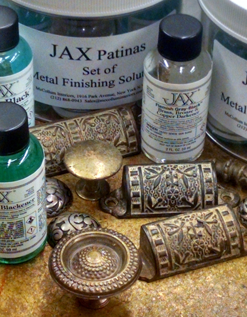 JAX 2 ounce patinas, in 7 piece set.