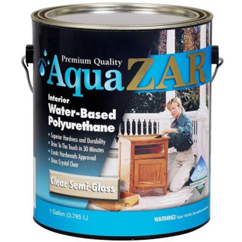 UGL Aqua ZAR Water-Based Polyurethane Clear Semi-Gloss Gallon