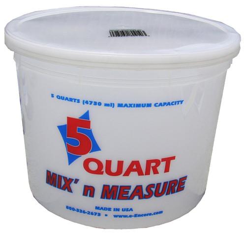 Encore Plastic 5 Quart Container with Lid Mix N' Measure