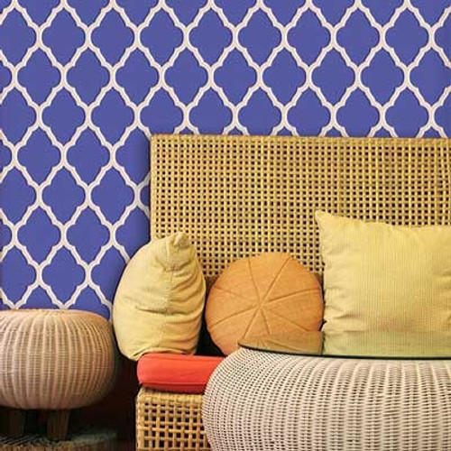 Royal Design Studio Marrakesh Trellis Moroccan Wall Stencil