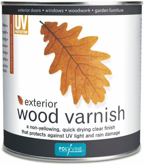 Polyvine Exterior Wood Varnish Clear Satin
