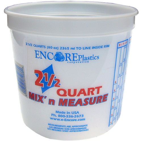Encore Plastic 2-1/2 Quart Container with Lid Mix N' Measure