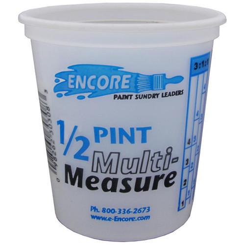 Encore Plastic 1/2 Pint Container Mix N' Measure