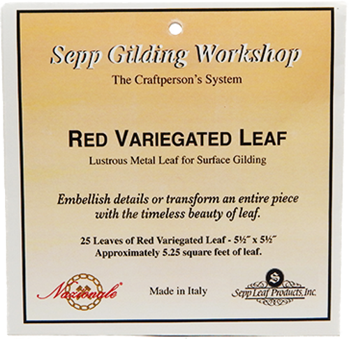Nazionale Red Variegated Metal Leaf 5.5-Inch by 5.5-Inch