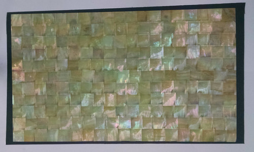 Gold Mother of Pearl Mosaic on dark ground detail. Full Sheet