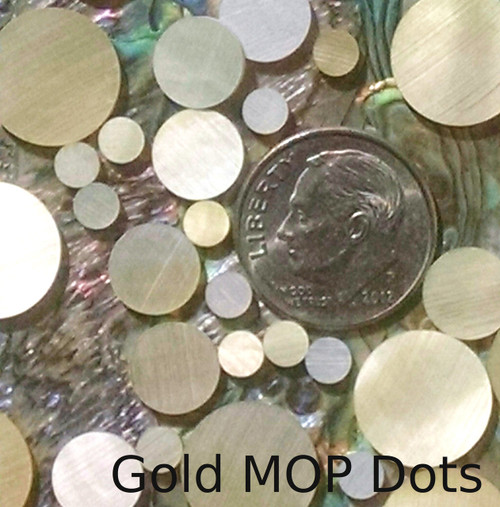 Gold Mother of Pearl Inlay Dots