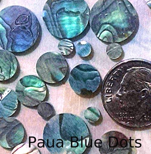 Paua Blue Inlay Dots