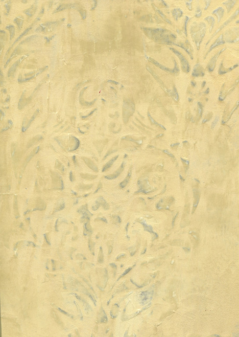 Metallic Pearl Texture Tinted Trowed over Stencil