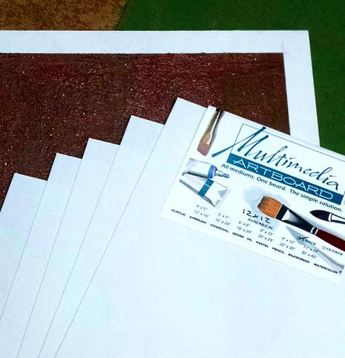 "Multimedia Board 12x12"" 5 pack"