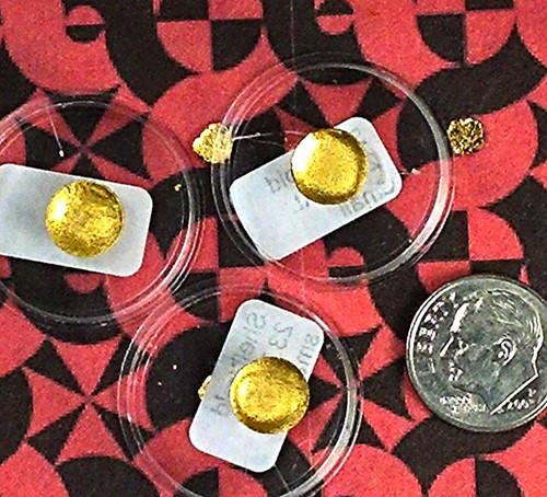 .40 gram, 23.75 Karat shell gold.