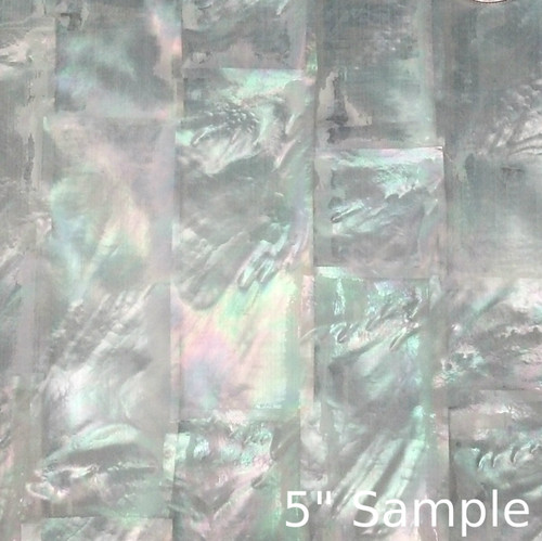 Natural Mother of Pearl Sheet 5 3/8 Inch by 9.5 Inch White MOP Strip