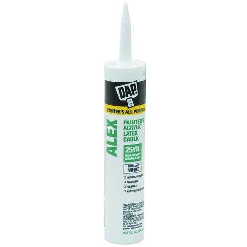 DAP 10.1 oz White Alex Painters Acrylic Latex Caulk 25 Year