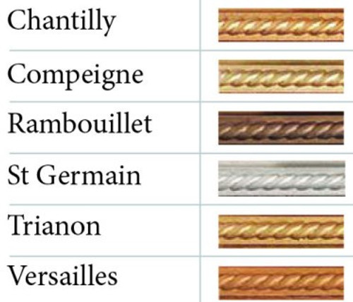 Color Chart for Gilt Cream and Varnish