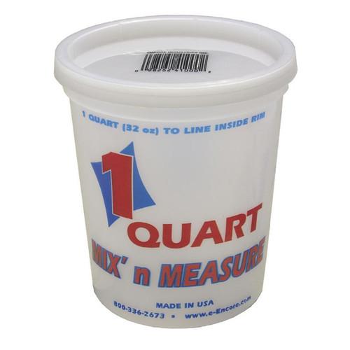 Encore Plastic Quart Container with Lid Mix N' Measure