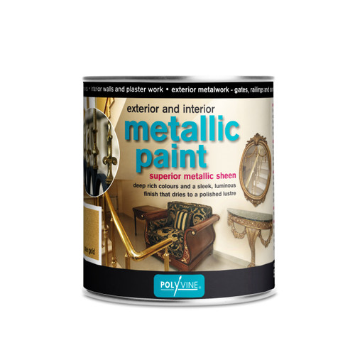Polyvine Interior Exterior Metallic Paint Bright Gold