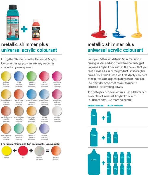 Polyvine Metallic Shimmer Pearlescent Interior Exterior Paint