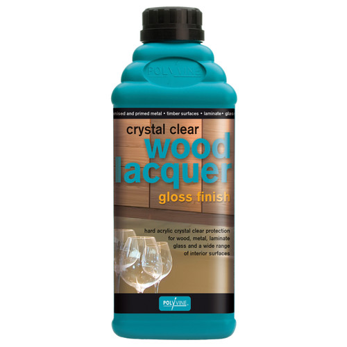 Polyvine Crystal Clear Wood Lacquer - Gloss Finish