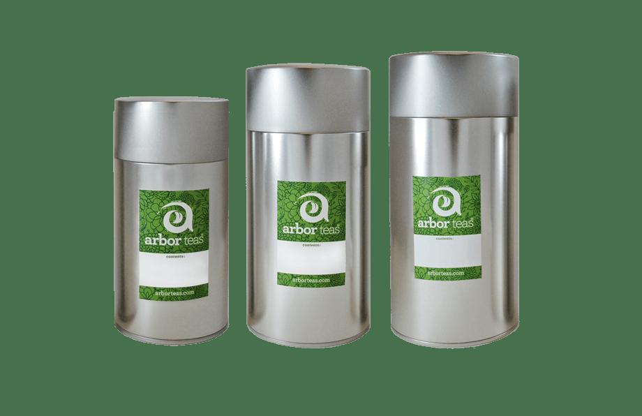 Arbor Teas Double Lid Storage Tin
