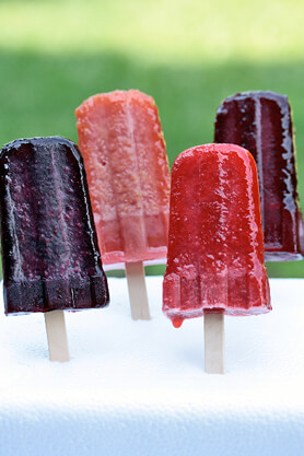 Tea Flavored Frozen Fruit Pop Recipe