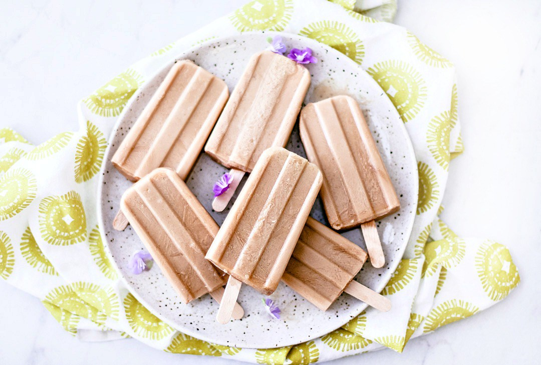 Coconut Thai Iced Tea Pops by Killing Thyme